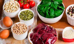 Список продуктов для беременных богатых железом